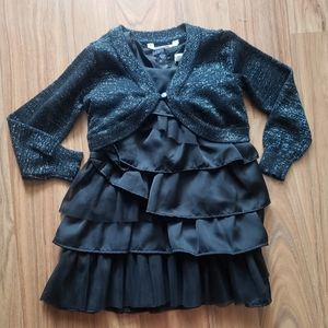 Joe Fresh | Black Ruffle Dress & Sparkle Shawl